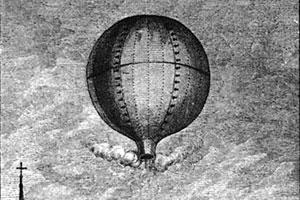Первый полёт воздушных шаров Монгольфье, гравюра 1783 года, кавалер де Лоримье.