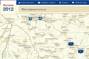 Малоархангельский район на карте Веб–выборы 2012.