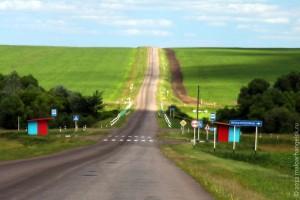 Деревня со знаменитым названием Ясная Поляна.