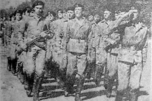 Парад юнармейцев в Малоархангельске 9 мая 1990 года.