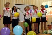 На фестивале пионерской песни в Малоархангельске.