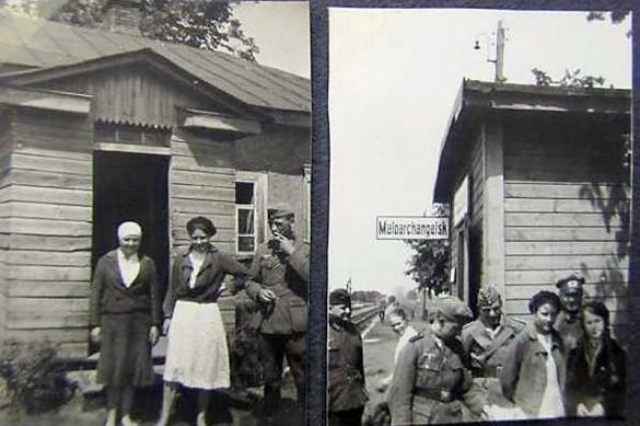Станция Малоархангельск на немецком снимке военного времени.