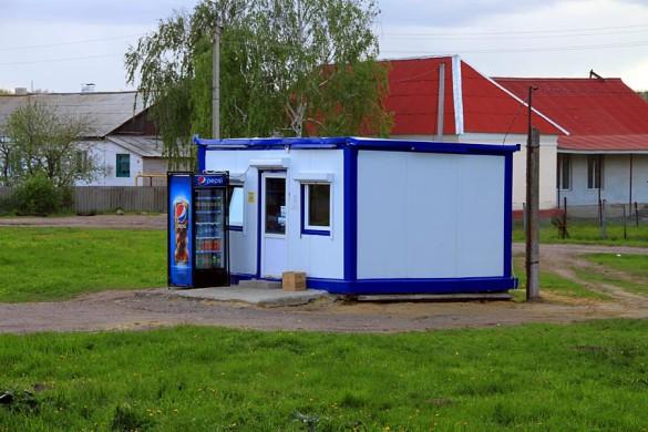 Бывший павильон социально-информационной сети «Все для всех» на станции Малоархангельск.