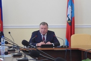 Пресс-конференция губернатора Александра Козлова.