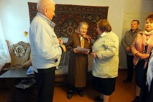 Юбилей ветерана ВОВ Папшевой Александры Михайловны.