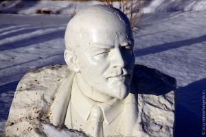 Бюст Ленина в Мишкове.