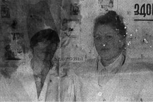 Фельдшер Л. Булатова со своей помощницей — санитаркой В. Токаревой.