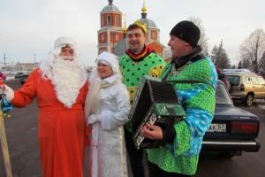 Дед Мороз на предновогодней ярмарке-2014 в Малоархангельске.