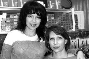Парикмахеры Ольга Козелкова и Ульяна Семашко.