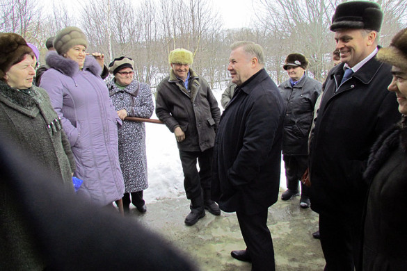 Александр Козлов в Малоархангельском районе.