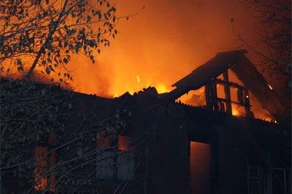Пожар в деревне Второе Коротеево.