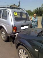 Столкновение автомобилей Рено Логан и ВАЗ-2131.