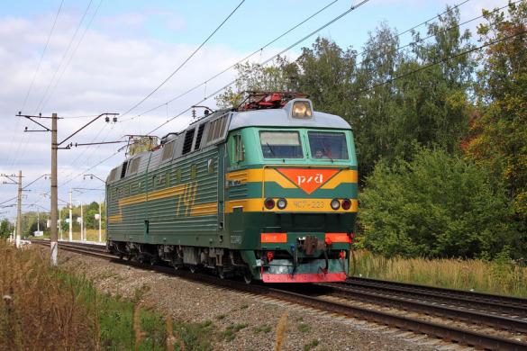 Электровоз ЧС7-223, перегон Глазуновка — Малоархангельск.