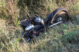 Мотоцикл после ДТП.