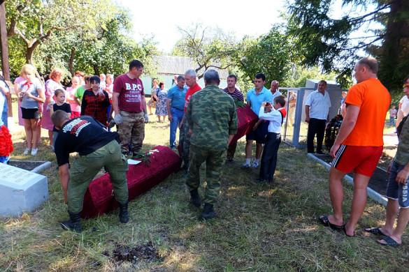 Перезахоронение в Протасово.