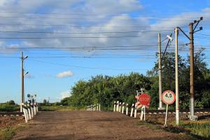 Железнодорожный переезд на ст. Малоархангельск.