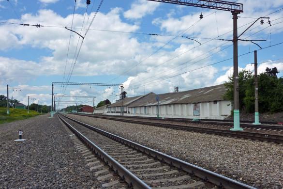 Из южной горловины в сторону вокзала.