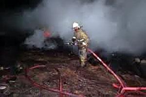 Возгорание 2 скирд сена в Легостаево.