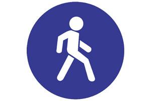 Дорожный знак Пешеход.