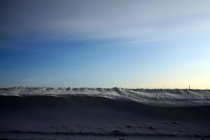 Снег на полях Малоархангельска.