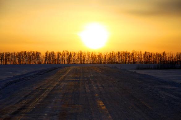 Солнце над Малоархангельском.