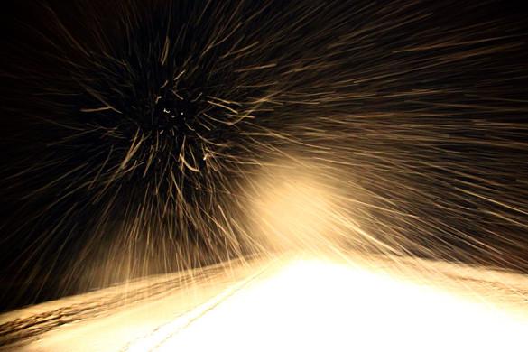 Февраль, 2015 год. Ночной снегопад.