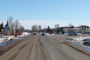 Сотрудники ГИБДД на перекрёстке в Малоархангельске.