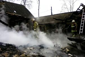 После пожара в Орлянке.