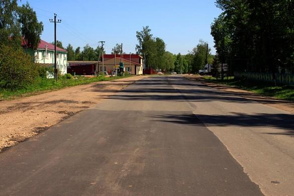 Дорога после ремонта 22 мая 2015 года.