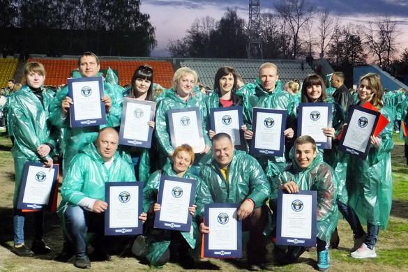 Делегация от Малоархангельского района приняла участие в патриотической акции «Рекорд Победы».