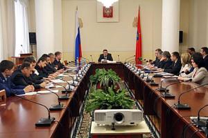 На заседании комиссии по противодействию незаконному обороту промышленной продукции в Орловской области.