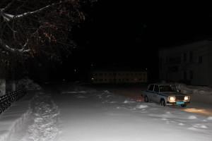 Зимняя «Декада дорожной безопасности детей»: машина ГИБДД.