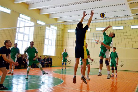 Пребывание на малоархангельской земле закончилось традиционной встречей по волейболу.