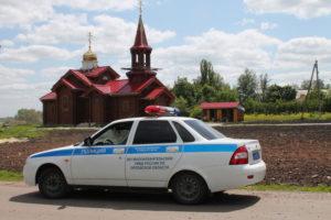 Автомобиль Малоархангельского РОВД.