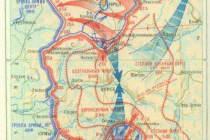 Карта Курской битвы.