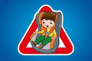 Ребёнок в машине.