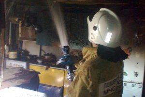 Работает пожарный ПСЧ-26.