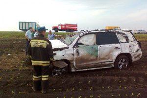 Тойота после аварии.