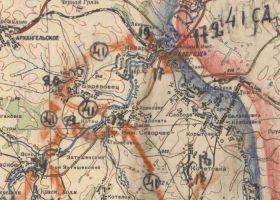 Позиции 41-й дивизии юго-западнее поселка Залегощь, 17-24 февраля 1943 г. Иллюстрация: «Память народа».