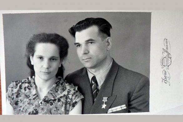 Костин с женой (фото сделано в Норильске).