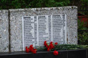 Фамилия на плите мемориала Удерево