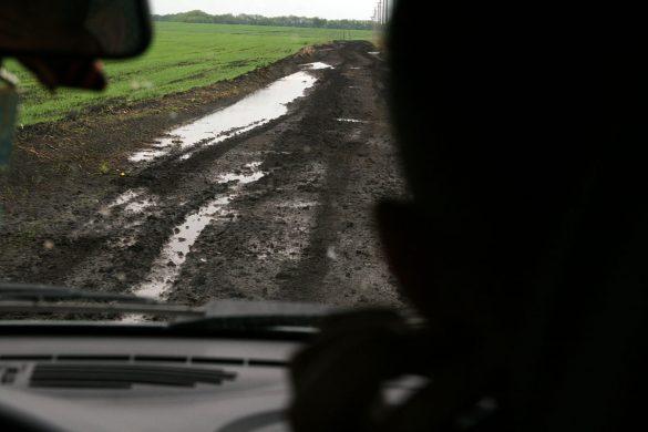 Дорога в деревню Удерево