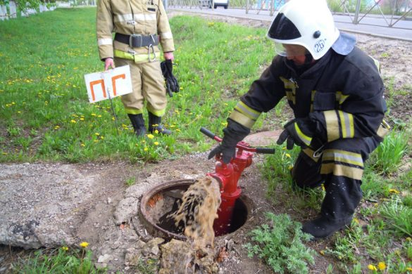 Малоархангельские огнеборцы оттачивали свое мастерство в тушении условного пожара в учебном заведении