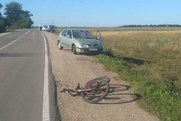 Велосипедист попал под Рено