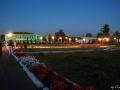 Центральная часть города Малоархангельска, ночь