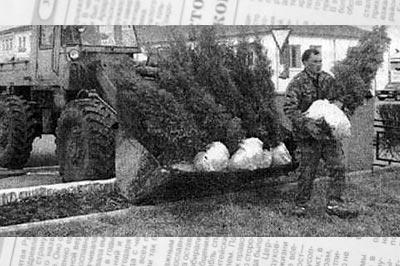 На фото из газеты «Звезда»: парк Победы преображается: поднимутся в парке новые деревца
