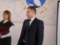 """Участников конкурса """"Учитель года-2011"""" приветствует А. В. Кусков."""