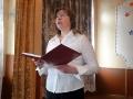 Стихотворение поэта-орловца В. Катанова читает преподаватель Е. А. Чекоданова.