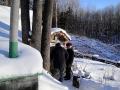 Инспекторы лесной охраны - частые гости у отшельника.