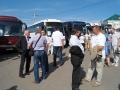 Участники сельскохозяйственной конференции на площади Малоархангельска.
